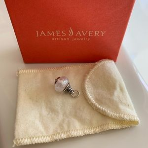 James Avery Faith Frosted White Glass Finial